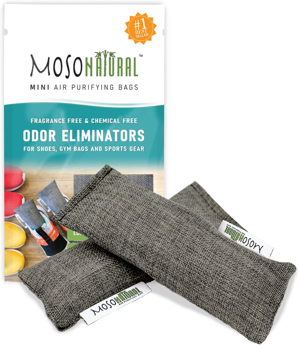 Moso Natural Mini 50g Air Purifying bag, 1-Pack (2 Total), Charcoal, 2 Count: Home & Kitchen