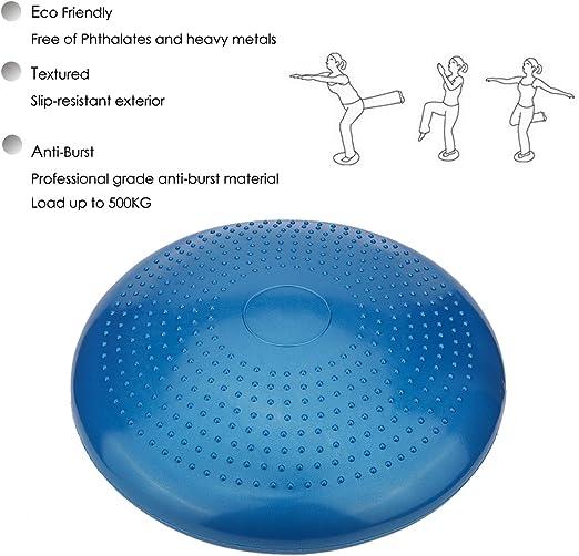 Air Stability Coussin 33/cm//33/cm de diam/ètre Bleu gonflable /équilibre disque pompe inclus/ /1/pcs Coussin de proprioception