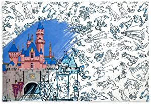 Disney Parks Disneyland Ink and Paint Reversible Table Placemats