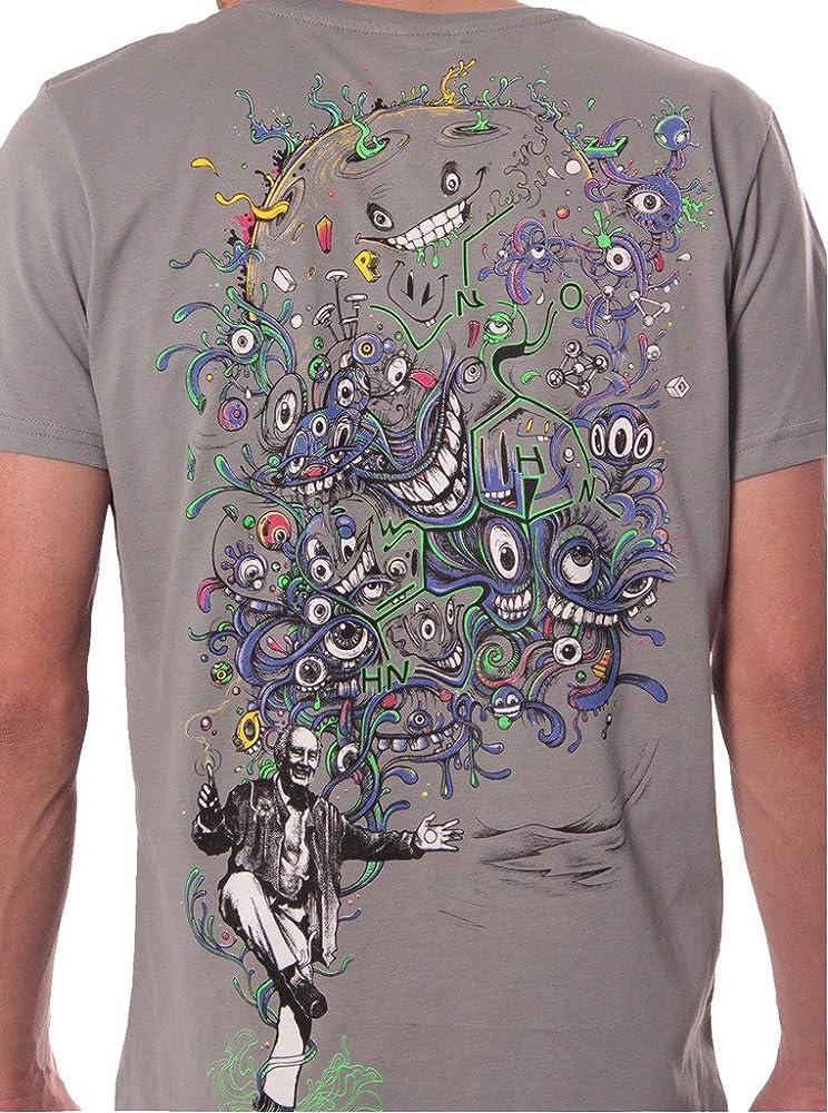 Camiseta psicodélica Estampada Albert Hoffman - Ropa Urbana de diseño en algodón para Hombre, Gris, Talla S: Amazon.es: Ropa y accesorios