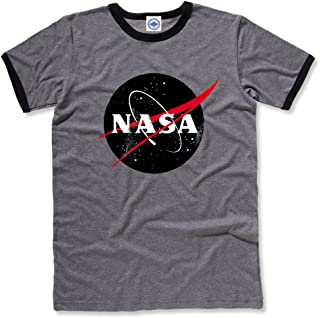 product image for Hank Player U.S.A. Black Official NASA Logo Men's Ringer T-Shirt