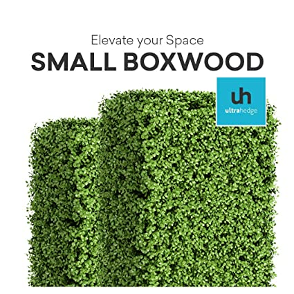Ultrahedge Small Boxwood 20 X 20 Inches Light Green Artificial Hedge Panels Topiary Decorative Wall Greenery Fence Covering Indoor Outdoor Small