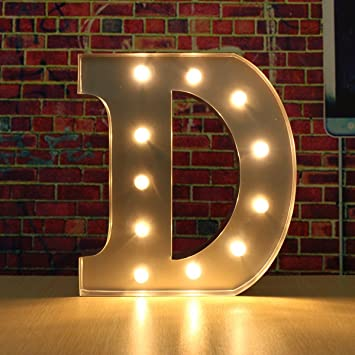 Amazoncom SOLMORE 30CM x 5CM LED Metal Marquee Letter Lights