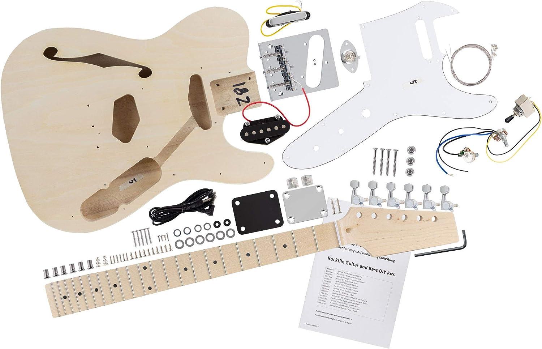 Kit de guitarra eléctrica Rocktile Hollowbody TL-Style: Amazon.es ...