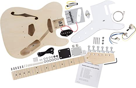 Kit de guitarra eléctrica Rocktile Hollowbody TL-Style: Amazon.es ...