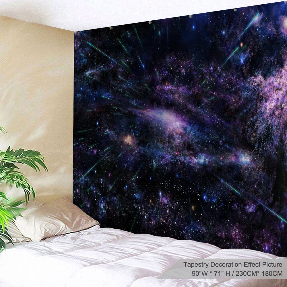 XINYI Home Wall Hanging Nature Art Polyester Fabric Galaxy Space Theme Tapestry, Wall Decor For Dorm Room, Bedroom, Living Room, Nail Included - 90'' W x 71'' L (230cmx180cm) - Cosmic Radiance