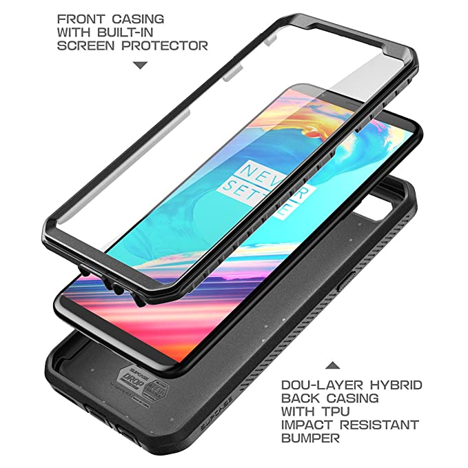 SUPCASE Unicorn Beetle Pro Series Case Designed for OnePlus 5T,with Built-in Screen Protector and Rotating Belt Clip Holster for OnePlus 5T (2017) - ...