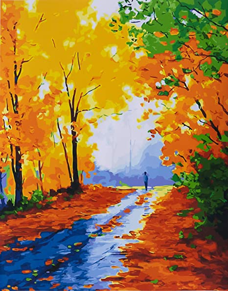 Lives with You 16X20 Inch YXQSED Paint by Numbers Kit for Adults Kids Beginner DIY Oil Painting Paintworks on Canvas with Wooden Framed
