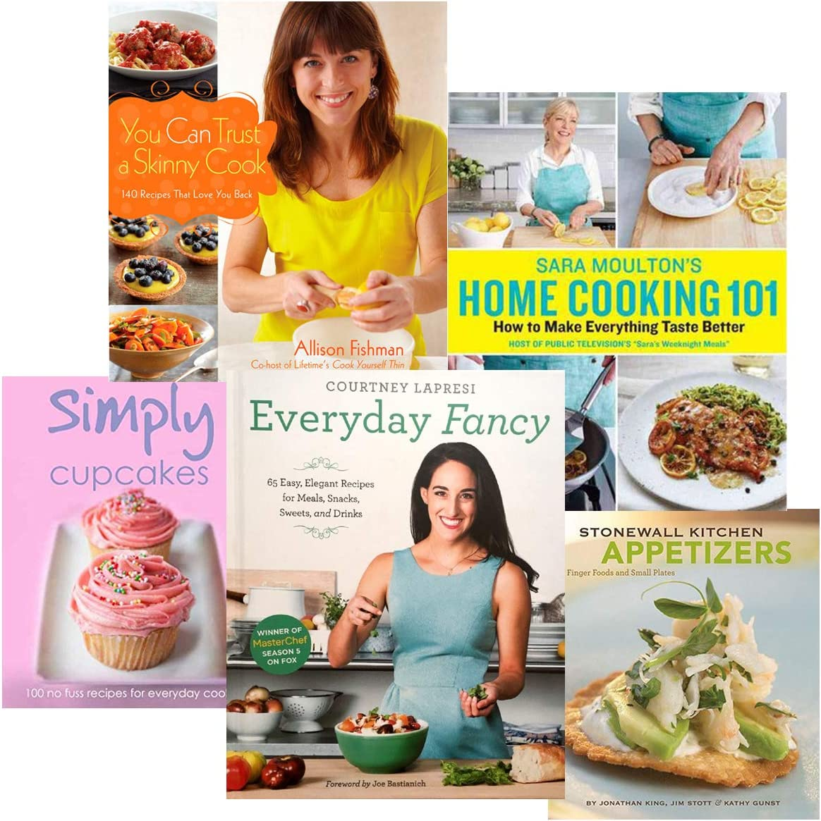Cookbook Collection - 5 Book Set - Healthy Eating - Desserts and More! with FREE Bon Appétit Magazine