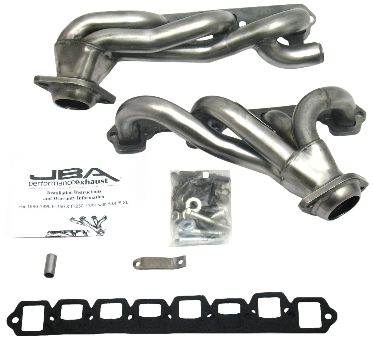 JBA 1628S 1-1//2 Shorty Stainless Steel Exhaust Header for Ford Truck 5.8L 86-96