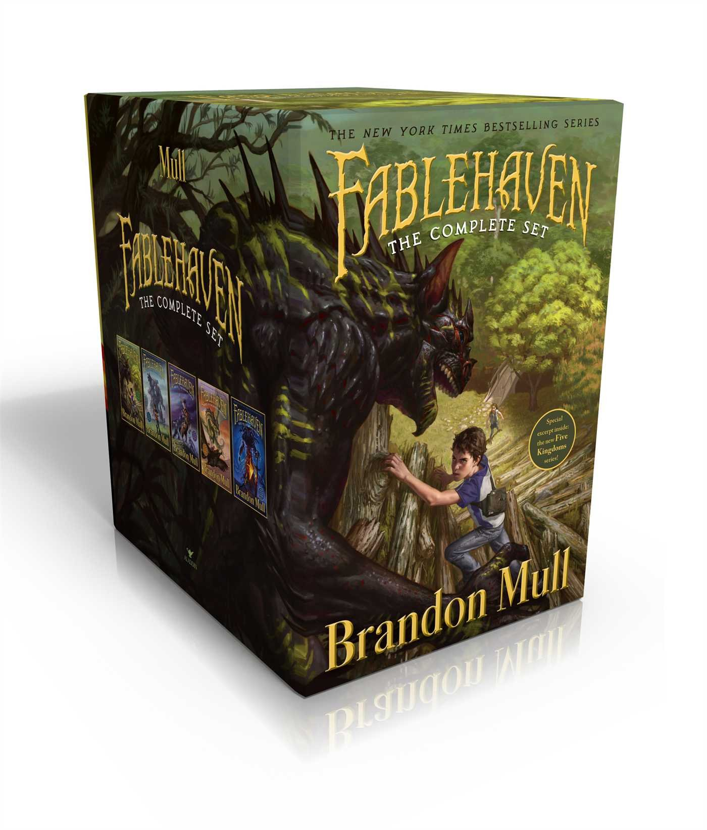 Fablehaven Complete Set (Boxed Set): Fablehaven; Rise of the Evening Star; Grip of the Shadow Plague; Secrets of the Dragon Sanctuary; Keys to the Demon Prison by Aladdin
