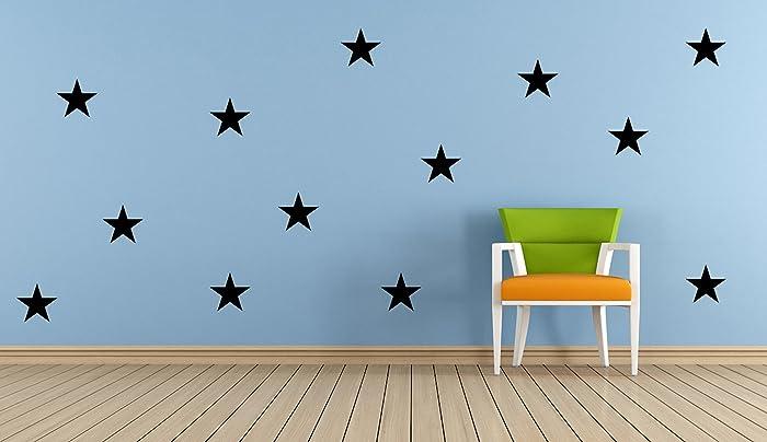 20 x vinyl star stickers cardmaking scrapbooking crafting playroom bedroom