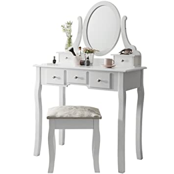 Superb Vienna DR006 | Dressing Table With Stool U0026 Mirror | White Vanity