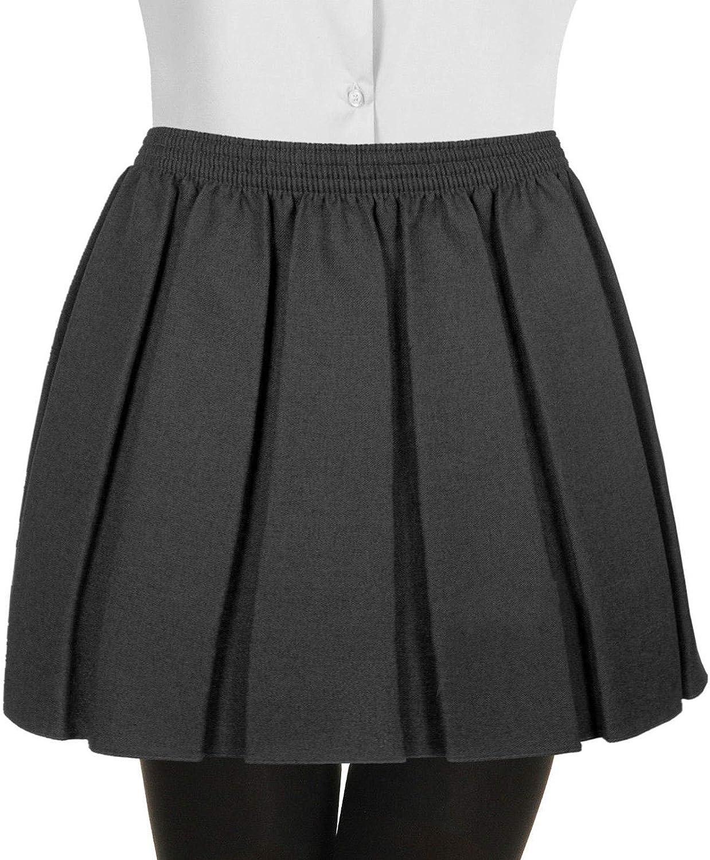 Falda de cintura elástica completa para uniforme escolar plisado ...