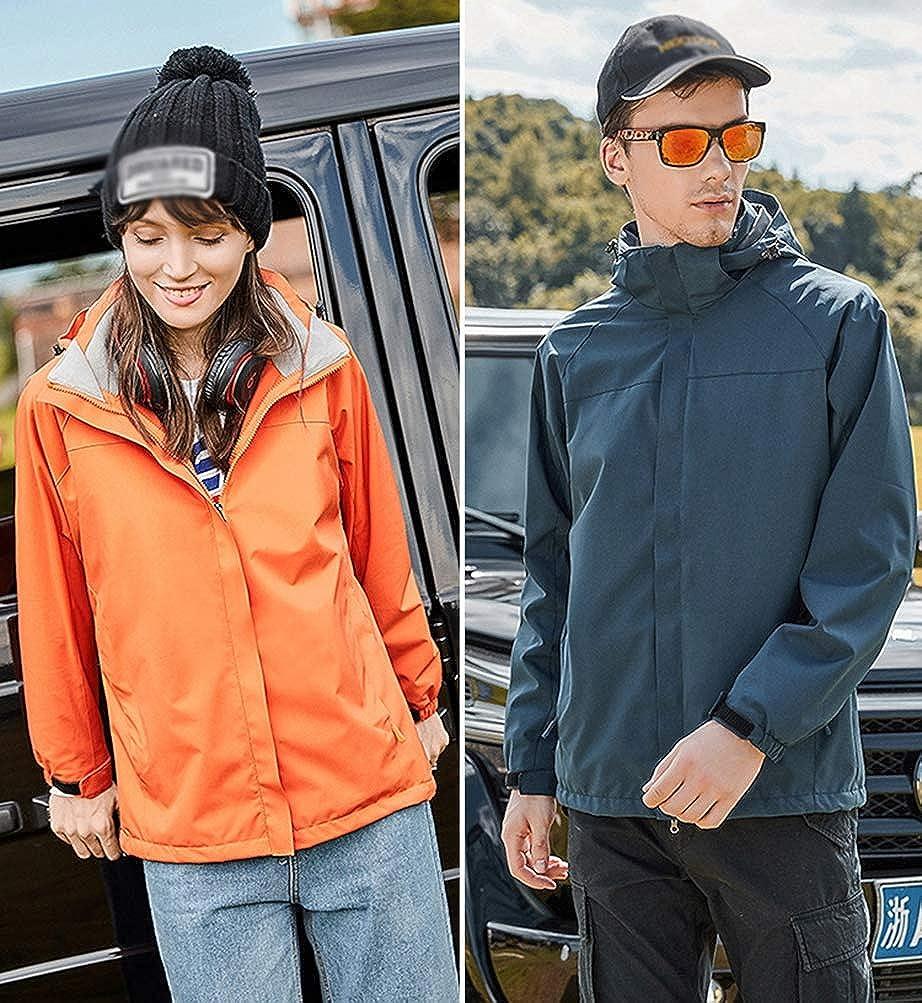 JEELINBORE Unisexe Veste Fleece 3 en 1 Imperm/éable Manteau Chaud Respirante Blouson Trekking Coupe Vent