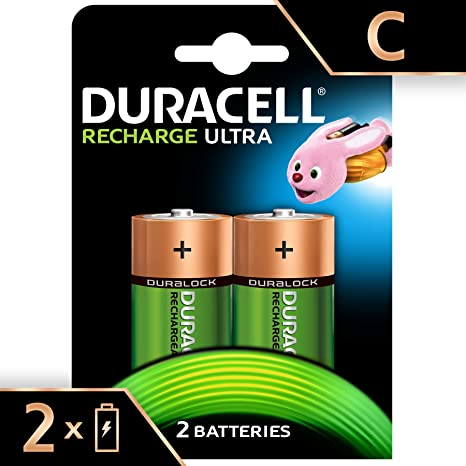 b79a4446568 Amazon.com  DURACELL RECHARG NIMH C SIZE BATTERY PK2  Home Audio   Theater