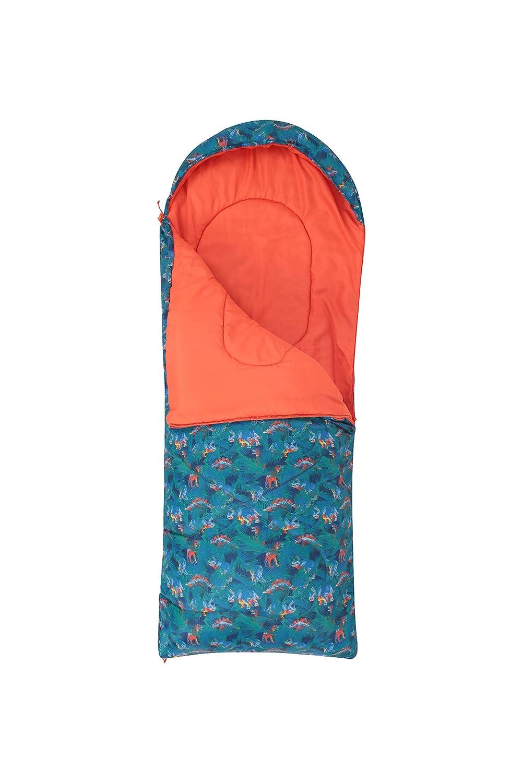 Camping-Schlafsack f/ür drau/ßen Mumienform Mountain Warehouse Apex kleingemusterter Kinder-Schlafsack Hohlfaser-Isolierung leicht zum Kinder-Camping