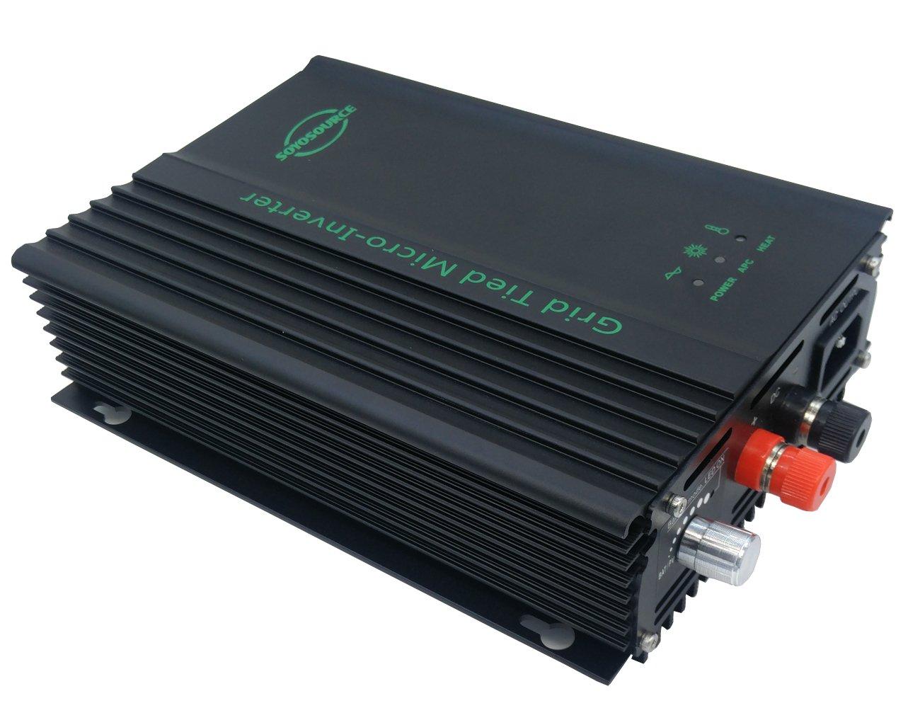 SOYOSOURCE 600W Grid tie inverter PV-input 50v-88v Adjustable Output Inverter on grid for 48V battery output adjustable by SOYOSOURCE