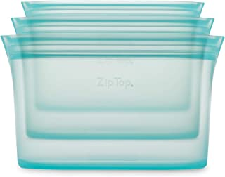 product image for Zip Top Reusable 100% Silicone Food Storage Bags and Containers - 3 Dish Set - Teal