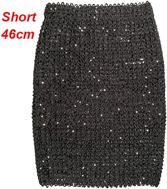 DAHDXD Faldas para Mujer con Lentejuelas de Oro Mini Falda Falda ...