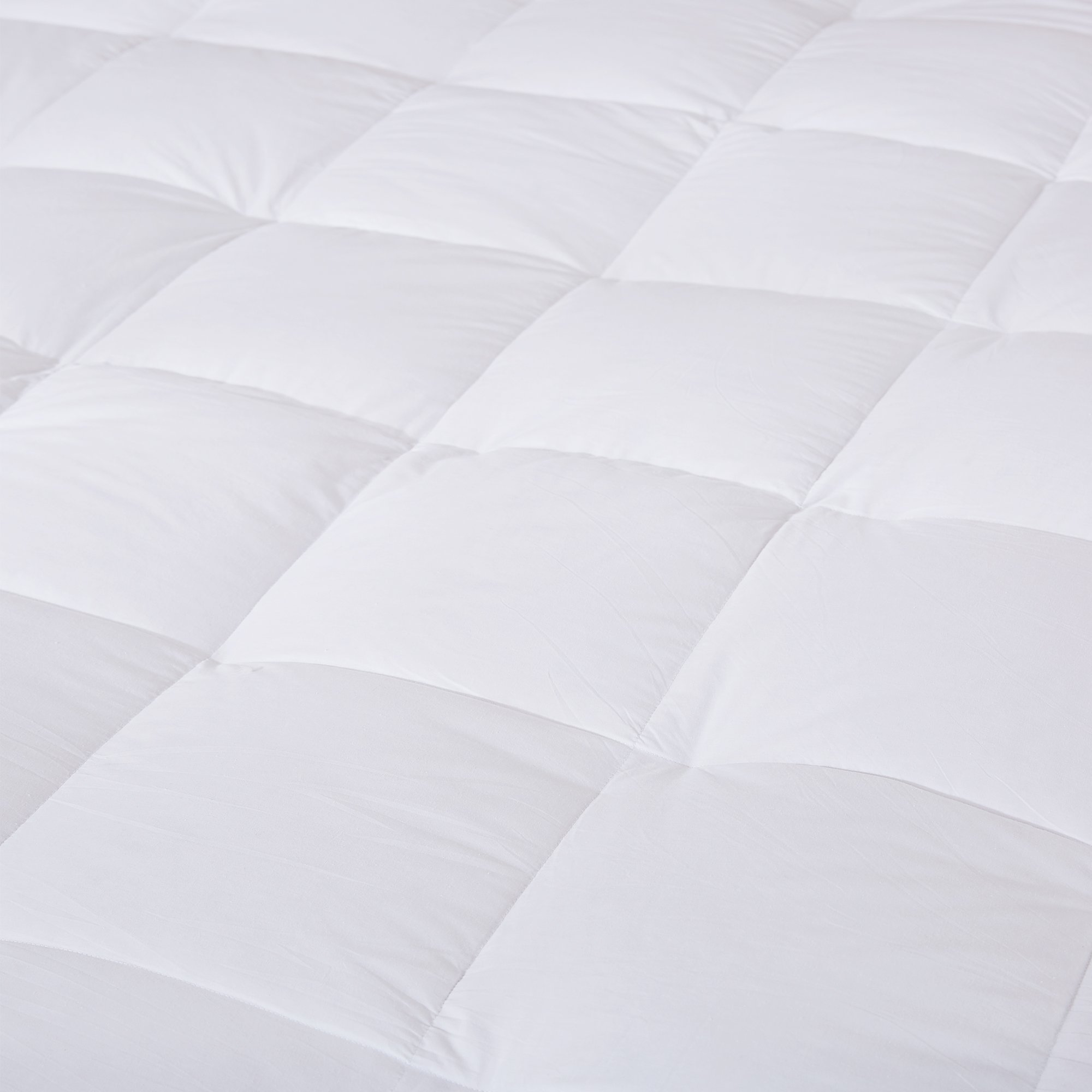 puredown Premium Natural White Goose Down Feather Overfilled Bed Topper 100% Cotton Fabric Mattress Pad Queen Down by puredown (Image #5)