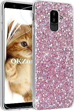 OKZone Funda Samsung Galaxy A6 Plus 2018, Cárcasa Brilla Glitter Brillante TPU Silicona Parachoque Teléfono Smartphone Funda Móvil Case para Samsung Galaxy A6 Plus 2018 (Rosado): Amazon.es: Electrónica