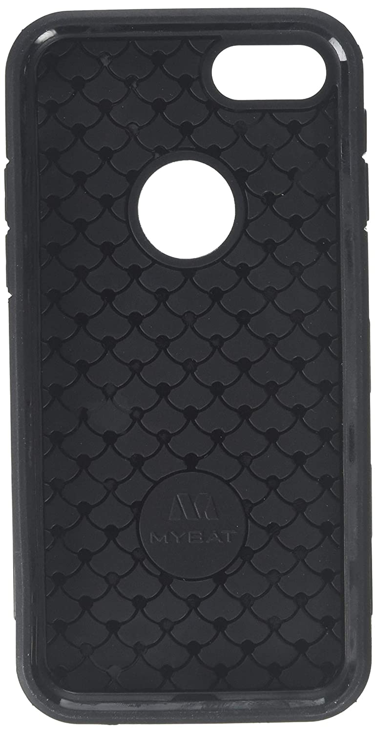 2e8072f49217ad Amazon.com  Asmyna Brushed TUFF Trooper Hybrid Protector Cover   Military-Grade Certified  (with Metal Ring Stand) for Apple iPhone 7 -  Black Black  Cell ...