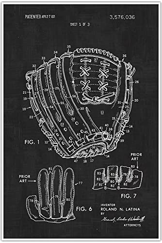 Amazon baseball glove blueprint patent sports patent poster baseball glove blueprint patent sports patent poster blueprint poster art malvernweather Image collections