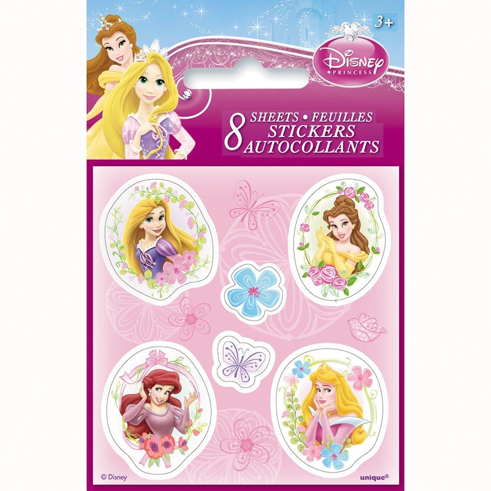 Amazon.com: Disney Princess Sticker Sheets, 8ct: Toys & Games
