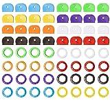 64 PCS Key Caps Tags Key Cover Plastic Key