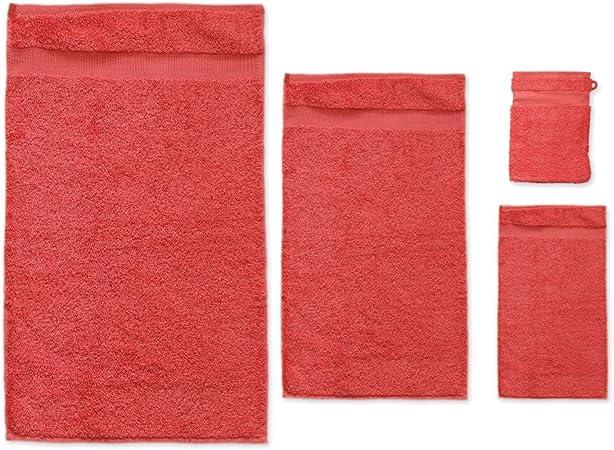 Manopla de rizo toallas para el baño algodón Bio coral: Amazon.es ...