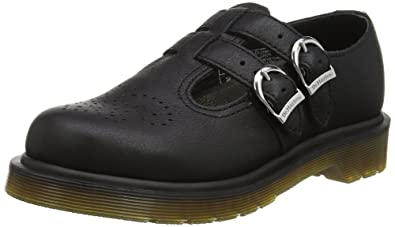 Dr. Martens Polley PW Black Virginia, Mary Janes Femme, Noir (Black), 36 EU