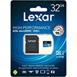 Lexar 32GB Micro SDHC 633x UHI Memory Card with SD Adapter LSDMI32GBBEU633A
