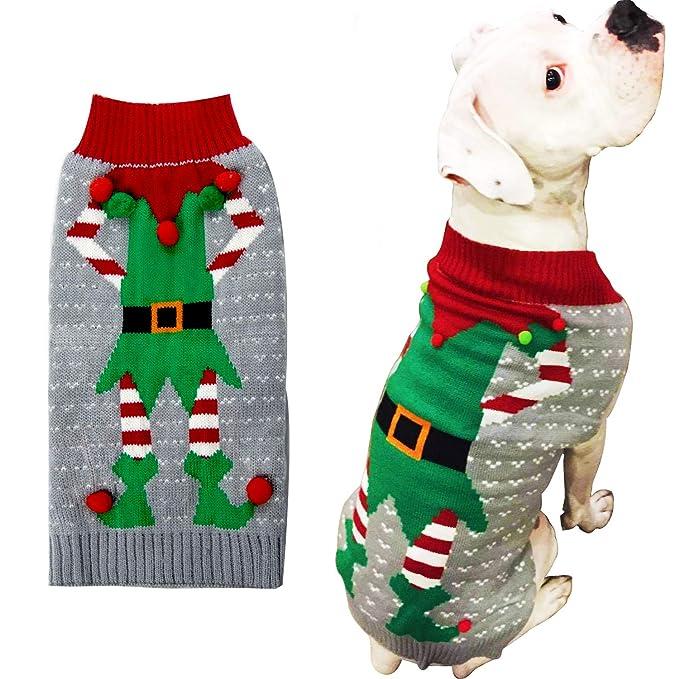 Amazon.com: HAPEE - Ropa para perro, diseño de Papá Noel ...