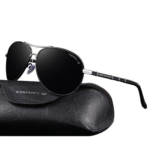 373dd82625 MERRY S Polarized Sunglasses Men s Driver Glasses Bamboo Leg S8766 (Black