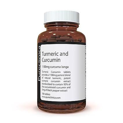 Cúrcuma Turmeric - 1000mg x 180 comprimidos - Incluyendo 95% de Curcumina – Con raíz