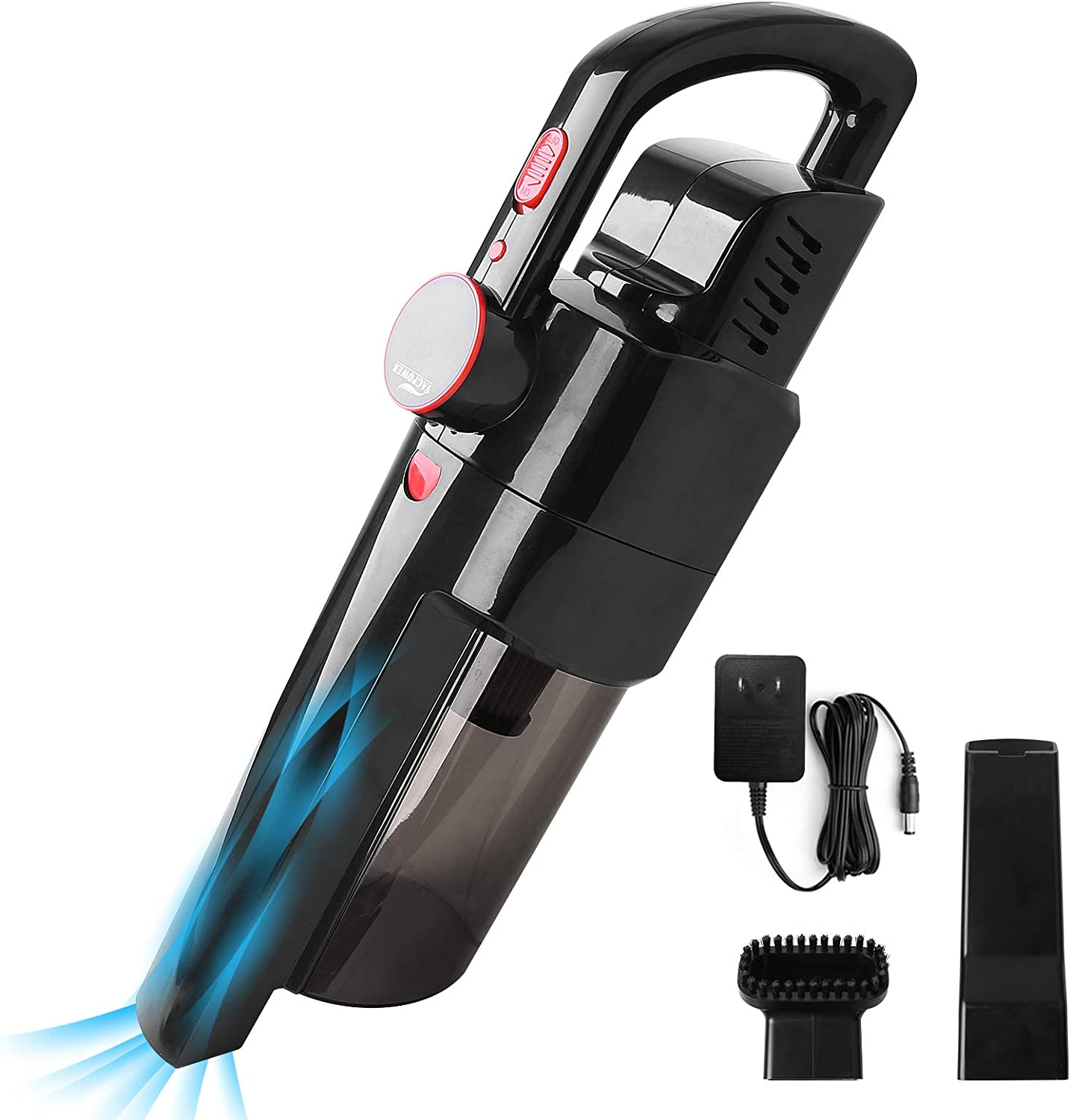 Handheld Vacuum, VACPOWER Cordless Handheld Vacuum Cleaner Powered by Li-ion Battery Rechargeable Quick Charge Tech, Mini Vacuum Cleaner for Home & Car