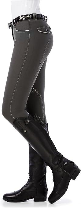 Equi-Theme//EquitM 979439310 Verona Culotte d/équitation avec Passepoil Rouge//Blanc Taille Unique