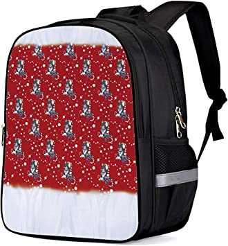 Laptop Backpack Lightweight Waterproof Travel Backpack Double Zipper Design with Euporean Christmas Day School Bag Laptop Bookbag Daypack for Women Kids