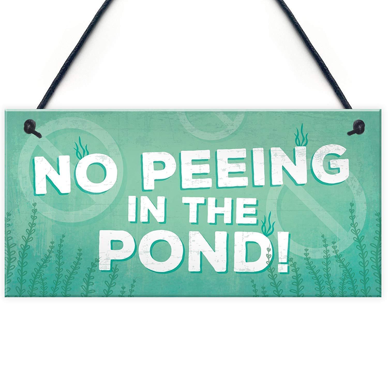 ECONG No Peeing In The Pond Placa de Madera Cartel de Madera ...