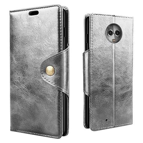 RIFFUE Funda Moto G6 Plus, Motorola G6+ Carcasa Libro Tapa ...