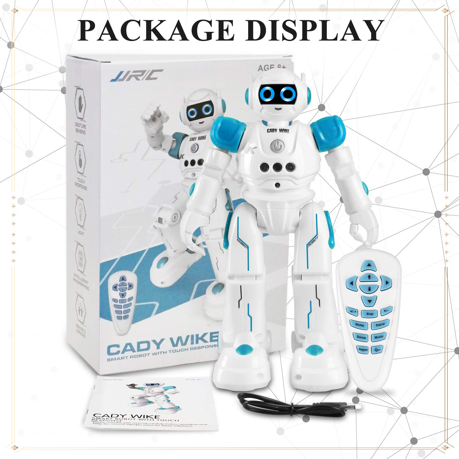 IHBUDS Robot Toy for Kids, Smart Robot Kit with Remote Control & Gesture Control, Perfect Robotics Gifts for Boys Girls Learning Programmable Walking Dancing Singing (Blue) by IHBUDS (Image #7)