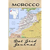 Morocco Dot Grid Journal: Softcover Travel Journal, Notebook And Planner for Travelers, Morocco Map Cover