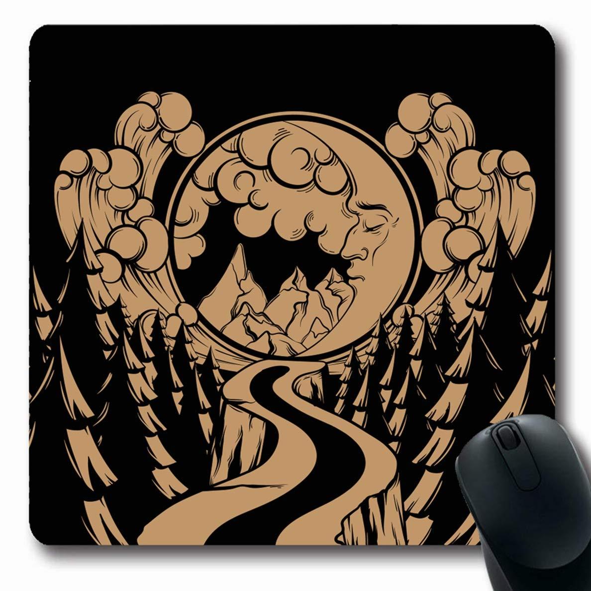 Alfombrillas de Mano Creativo Antiguo Dibujado a Mano Luna Nube ...