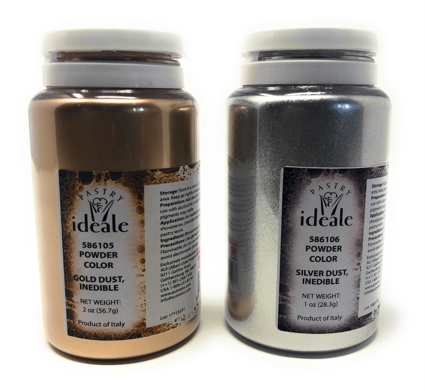 Pastry Ideale Gold Dust & Silver Dust Set (Inedible)