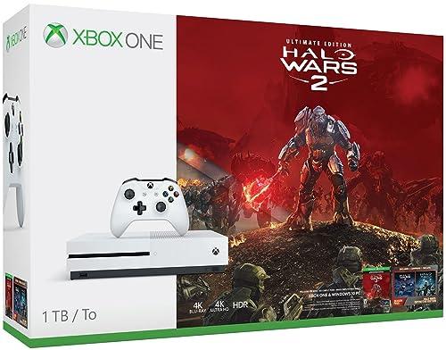 Xbox One S 1TB Console - Halo Wars 2 Bundle