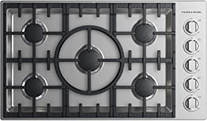 Fisher Paykel CDV2365NN Professional Series 36 Inch Gas Sealed Burner Cooktop in Stainless Steel