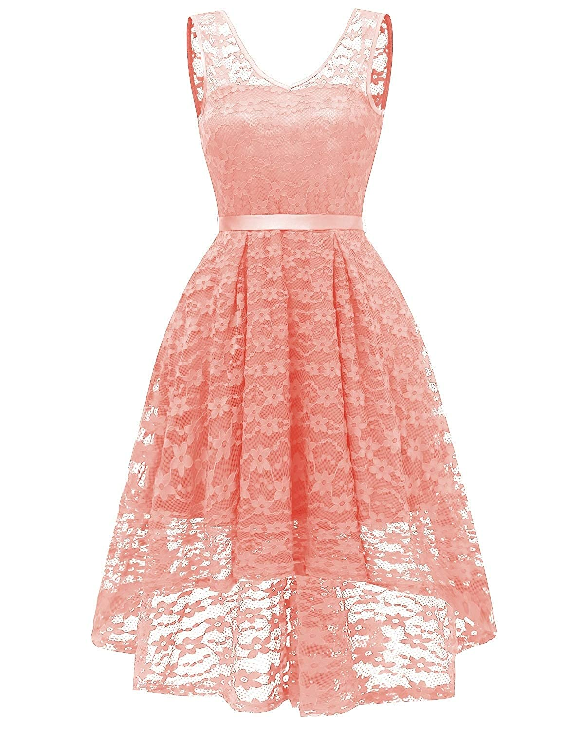 Pink Zooka Summer Women Midi Dress Print Sleeveless Ladies Lace Dresses Vintage Party