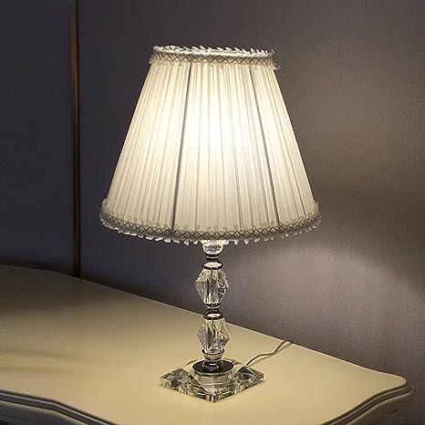 Lampada da tavolo moderna da camera da letto rosa, lampada ...