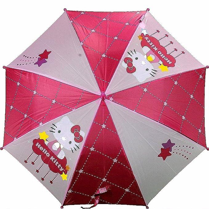 Paraguas – Hello Kitty – de estrellas fugaces Rosa moldeado Mango Nuevos juguetes 692350
